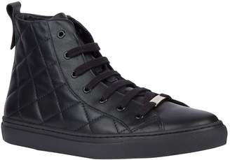 Claudie Pierlot Leather Quilted High-Top Sneakers