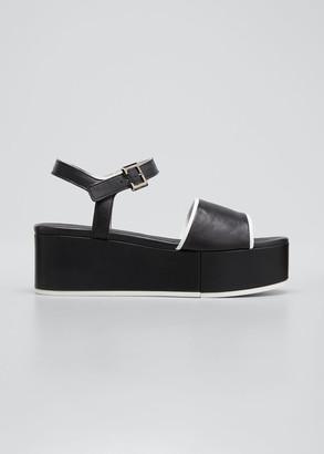 Clergerie Mori Two-Tone Wedge Platform Sandals