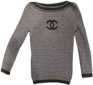 Chanel Navy Cotton Tops
