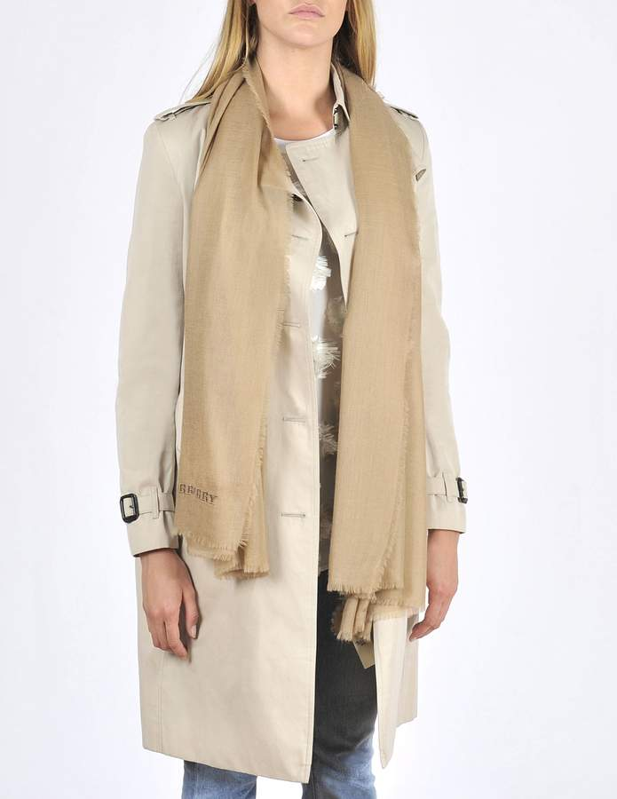 Burberry Solid 90x180 cashmere stole