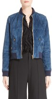 Chloé Women's Quilted Suede Bomber Jacket