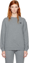 McQ by Alexander McQueen Grey Swallow Badge Sweatshirt
