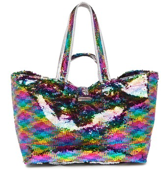 Brasi & Brasi Rainbow Sequin Half Tote Bag