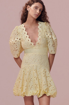 Rebecca Taylor Audrey Eyelet V-Neck Dress