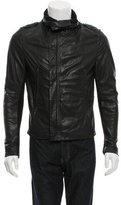 Yigal Azrouel Leather Rib Knit-Paneled Jacket