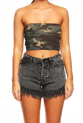 ReooLy Women Strapless Camouflage Boob Bandeau Tube Tops Bra Lingerie Breast Wrap