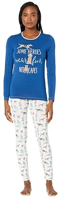 Kickee Pants Long Sleeve Fitted Pajama Set (Natural Canine First Responders) Women's Pajama Sets