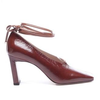 Wandler Brown Leather Heels