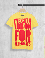 House of Holland Vetements cotton-jersey t-shirt