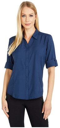 Royal Robbins Expedition Chill Stretch 3/4 Sleeve Top (White) Women's Long Sleeve Button Up