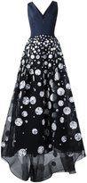 Carolina Herrera printed dots gown