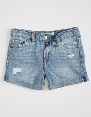 Levi's Girlfriend Shorty Little Girls Black Denim Shorts (4-6x)
