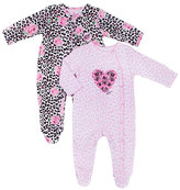 Betsey Johnson Hearts And Roses Footie Onesie Two Pack