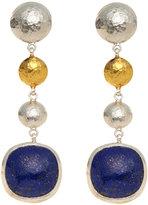 Gurhan Sterling Silver & 24K Gold Lapis Earrings