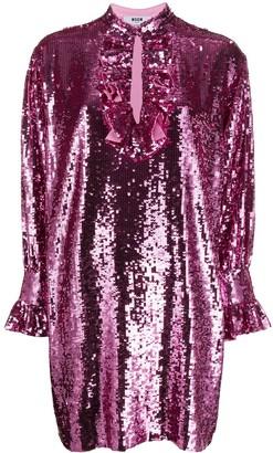 MSGM Sequin-Embellished Shift Dress