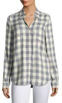 L'Agence Denise Gingham-Print Shirt