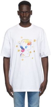 Vetements White Heartbreaker Unicorn T-Shirt