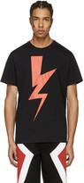 Neil Barrett Black Abstracted Bolt T-Shirt