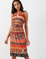 Star by Julien Macdonald Tribal Print Midi Dress