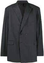 Balenciaga checked washed double-breasted jacket