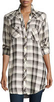 Tolani Tina Long-Sleeve Plaid Tunic, Plus Size