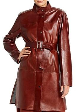 Lafayette 148 New York Savannah Perforated Leather Jacket