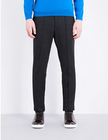 HUGO BOSS Slim-fit tapered stretch-wool trousers