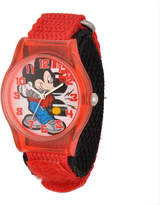 Disney Mickey Mouse Kids Red Nylon Strap Watch