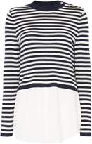 Lauren Ralph Lauren Salcorta cropped jumper with woven layer