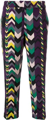 Missoni Pre Owned 2000's Geometric Pattern Cropped Trousers