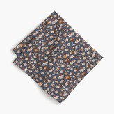 J.Crew Cotton pocket square in floral print