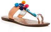 Sam Edelman Gemina Pom Pom Thong Sandals