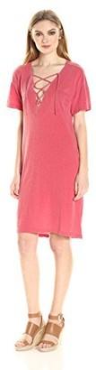 Stateside Women's Slub Lace Up Dress