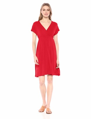 Amazon Essentials Women's Solid Surplice Dress
