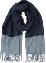 Mint Velvet Navy Blocked Stripe Blanket Scarf