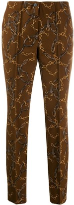 Cambio Printed Slim Fit Trousers