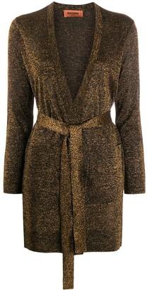 Missoni Metallic-Thread Belted Coat