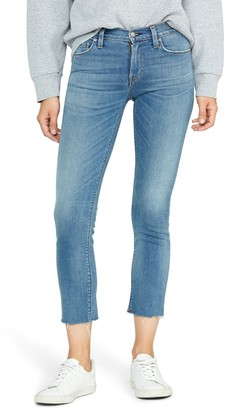 Hudson Jeans Nico Fray Hem Crop Straight Leg Jeans