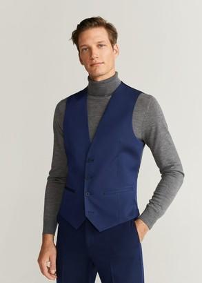 MANGO MAN - Super slim fit suit gilet blue - 38 - Men