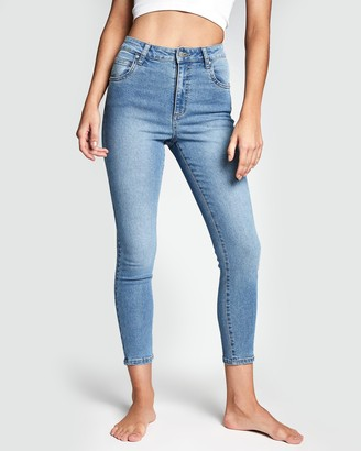 Cotton On High Rise Cropped Skinny Jeans