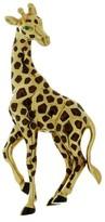 Cartier 18K Yellow Gold Enamel Emerald Giraffe Brooch