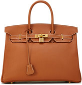 Hermes Vintage Togo Birkin Pebbled Satchel Bag, Brown