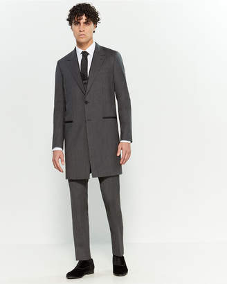Dolce & Gabbana 3-Piece Melange Grey Wool-Blend Longline Suit