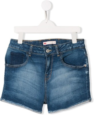 Levi's TEEN frayed denim shorts