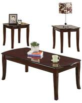 ACME Furniture 3 Piece Camarillo Pack Coffee End Table Set Cherry - ACME