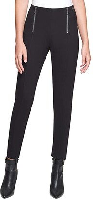 Calvin Klein Leggings with Zip Detail (Black) Women's Casual Pants