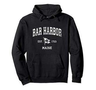 Bar Harbor ME Vintage Nautical Boat Anchor Flag Sports Pullover Hoodie