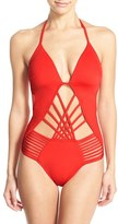 Kenneth Cole New York Women's Push-Up One-Piece Swimsuit