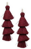 Saks Fifth Avenue Layered Cotton Tassel Earring