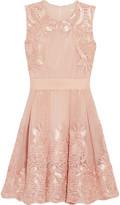 Maje Reason embroidered mesh dress